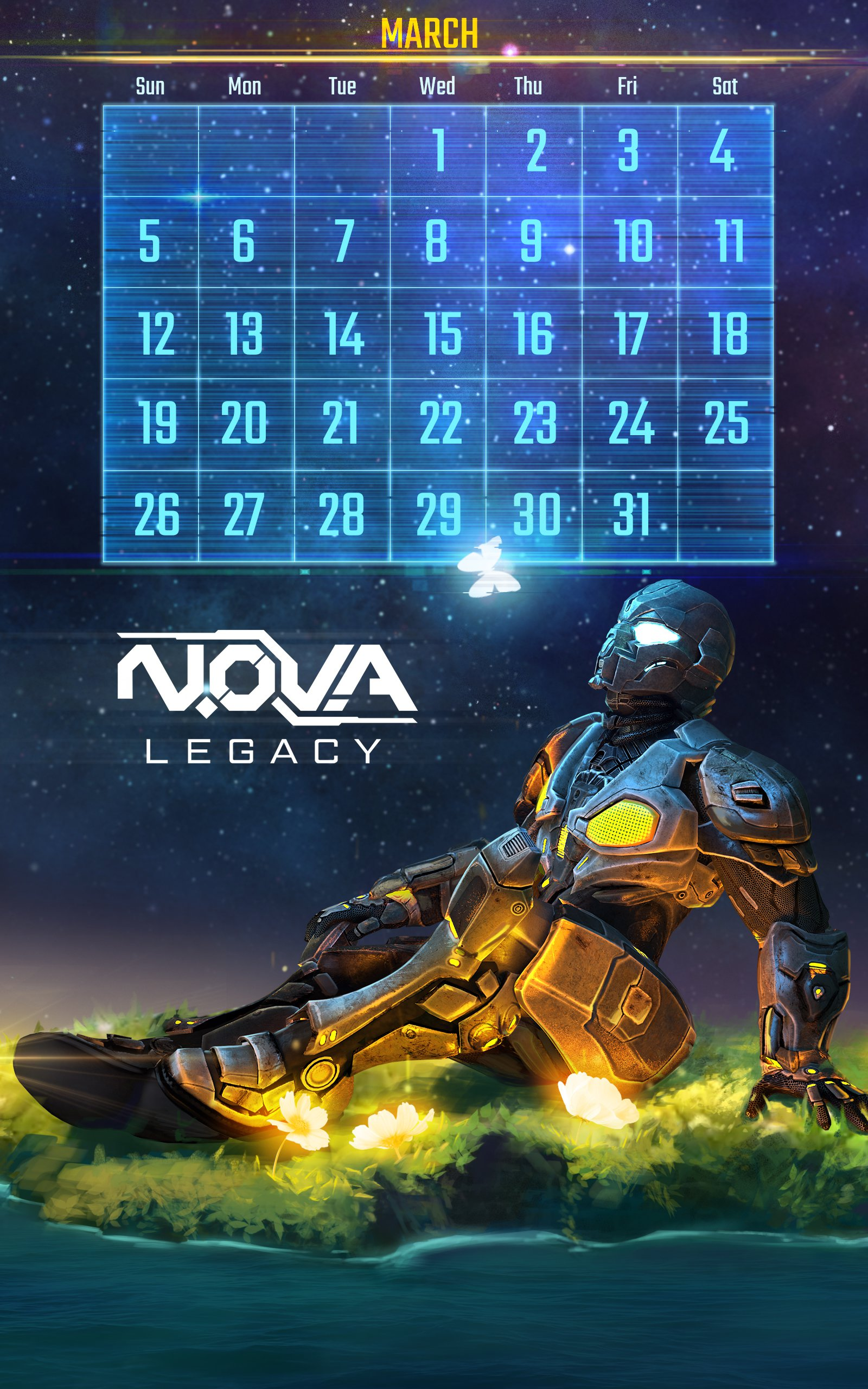 Calendar Wallpaper Automatic Update : Download n o v a legacy calendar and wallpaper march