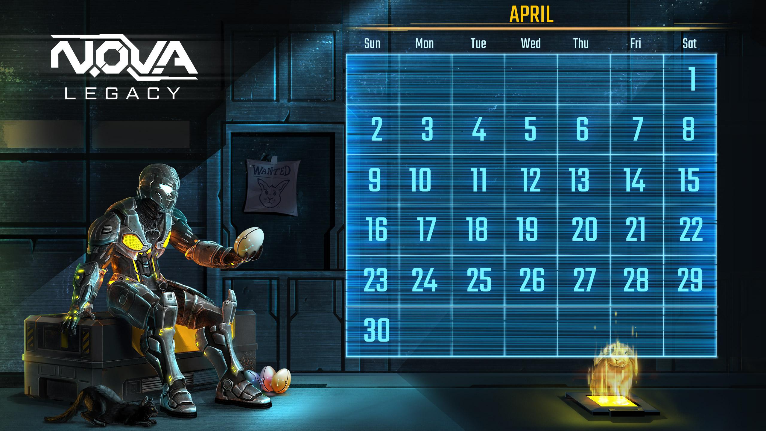 Download N O V A  Legacy's April Calendar | Gameloft Central
