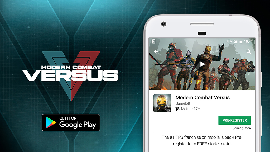 Exclusive Modern Combat Versus pre-register rewards on Google Play