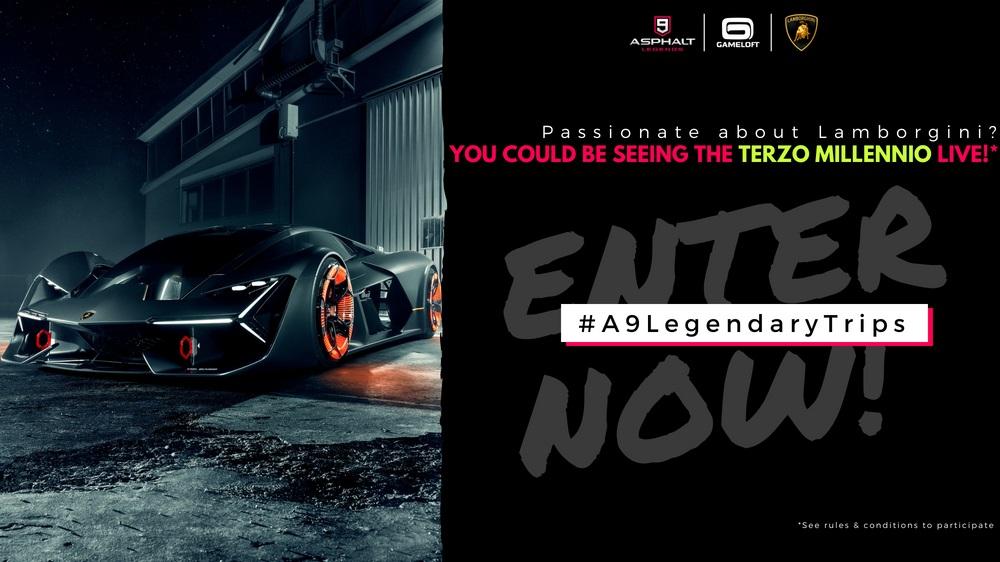 Gameloft & Lamborghini present the #A9LegendaryTrips contest