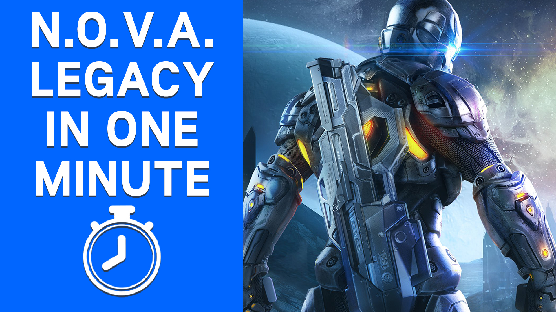 N.O.V.A. Legacy in One Minute