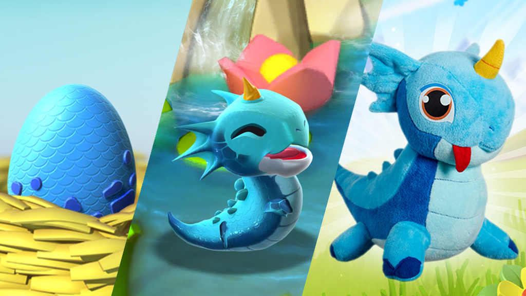 Meet our adorable Water Dragon plush