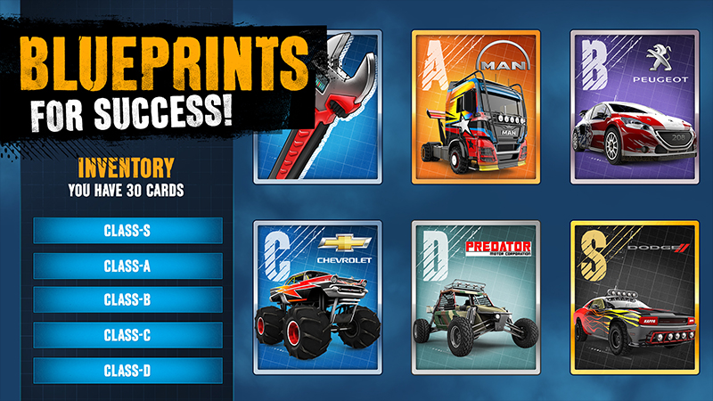 Blueprints Put Every Car Within Reach. By Collecting The Required Blueprint  You Can Unlock All Of Your Favorite Off Road Machines. Once Constructed,  You Can ...