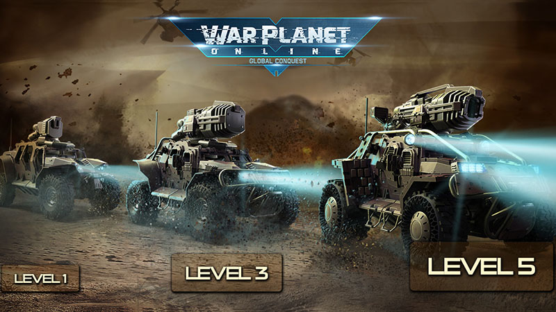 Begin the battle for global conquest in War Planet Online