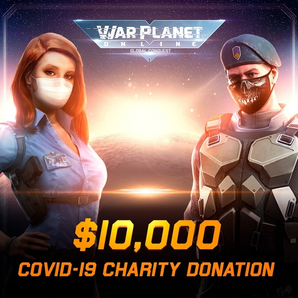 war planet online world health organization covid-19 charity campaign donation